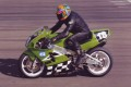Barry's motorcycle racing on speedy No 18